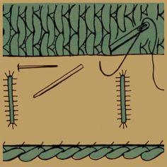 Untertritt und Verstärkung bei Strickarbeiten  Untertritt und Verstärkung bei Strickarbeiten sind wichtig um die Vorderteile von Jacken, Westen, Manschetten und Halsausschnitten sauber fertigzustellen  http://www.handarbeitszirkel.de/untertritt-und-verstaerkung-bei-strickarbeiten/