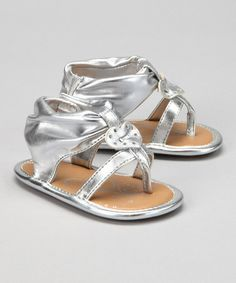 Look what I found on #zulily! Silver Lil' Kaydence Sandal by Natural Steps #zulilyfinds