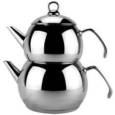 Stainless Steel Double Tea Kettle #P009