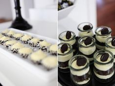 {BN Black Book of Parties} Black and White Dessert Table | A Blissful Nest
