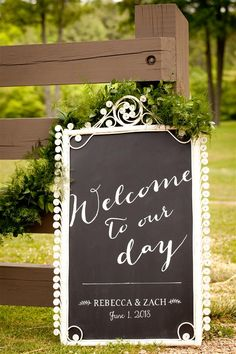 Chalkboard created from a vintage wicker frame was purchased at Finders Keepers for a wedding by Shannon Berry Designs  The wedding at Lonesome Valley