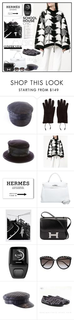 """""""Work Hard, Play Hard: Finals Season"""" by yours-styling-best-friend ❤ liked on Polyvore featuring Hermès, STELLA McCARTNEY, Oliver Gal Artist Co., TomTom and TOMS"""