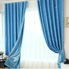 amazing baby blue curtains - Google Search