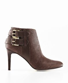 Ann Taylor - AT Shoes View All - Amalia Exotic Embossed Leather Booties