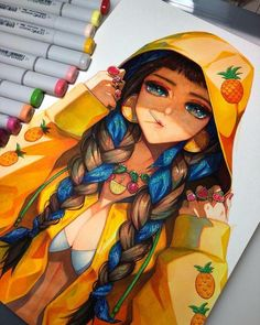 #Dessin YukieTAJIMA #FeutreàAlcool #copic #CopicSketch #Colorisation #Manga