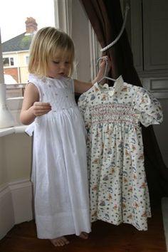 Smocked dresses for my little girls
