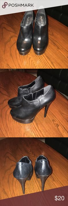 Aldo booties! These are sexy booties, I have barely worn them. I have so many just cleaning out my shoes! Aldo Shoes Ankle Boots & Booties