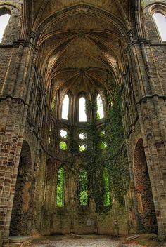 Ruins of Abbaye de Villers la Ville in Wallonia, Belgium