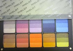 Makeup Review, Swatches: INGLOT Double Sparkle Rainbow Eyeshadows In Freedom System Palette