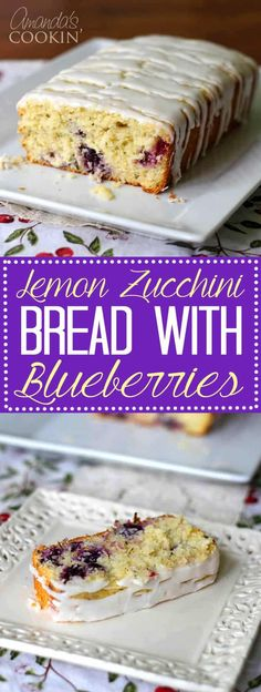 Lemon Zucchini Bread with Blueberries is positively delicious. Harvest those zucchinis and make this amazing lemon blueberry zucchini bread today! Blueberry Zucchini Bread, Blueberry Recipes, Köstliche Desserts, Delicious Desserts, Yummy Food, Zucchini Desserts, Bake Zucchini, Bread Recipes, Cooking Recipes