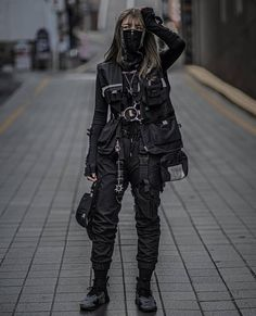 Edgy Outfits, Grunge Outfits, Girl Outfits, Cute Outfits, Fashion Outfits, Dark Fashion, Grunge Fashion, Mode Streetwear, Streetwear Fashion