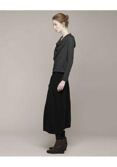 Forme d'Expression / Knit Bell Pocket Skirt