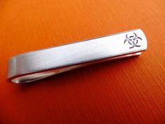 Bio hazard Tie Bar - Custom Tie Clip