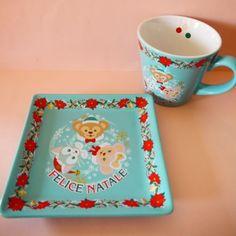 New-2014-Tokyo-Disney-Sea-Christmas-Duffy-ShellieMay-Gelatoni-Mug-Plate-Japan