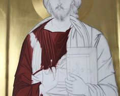 Religious Icons, Religious Art, Byzantine Icons, Painted Clothes, Orthodox Icons, Diy And Crafts, Painting, Detail, Christ