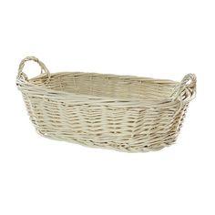 Wiklinowy koszyk kol. kremowy
