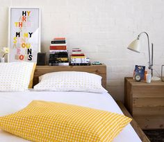 embroidered art + pretty bedding | { wit + delight }