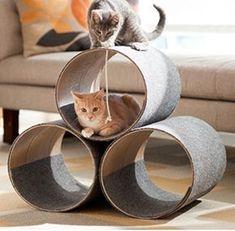 DIY Modern cat condo #catsdiytree