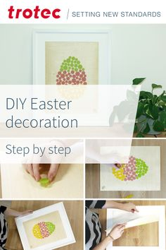 Step by step instructions for Easter decoration Trotec Laser, Diy Easter Decorations, Step By Step Instructions, Decorative Boxes, Projects, Home Decor, Colorful, Easter Decor, Tutorials