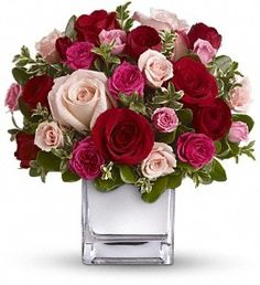 Order Teleflora's Love Medley Bouquet with Red Roses from Chester's Flower Shop And Greenhouses, your local Utica florist. Send Teleflora's Love Medley Bouquet with Red Roses for fresh and fast flower delivery throughout Utica, NY area. Romantic Flowers, Love Flowers, Wedding Flowers, Send Flowers, Flower Bouquets, Paper Flowers, Avas Flowers, Valentine Flowers, Gift Flowers