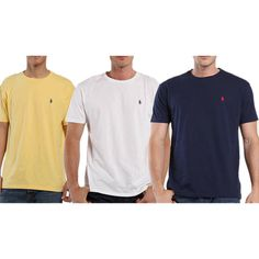 3 Pack: Polo by Ralph Lauren Mens Pony Logo Classic Fit T-Shirts - $33.99. https://www.tanga.com/deals/6c4f2911dc24/3-pack-polo-by-ralph-lauren-mens-pony-logo-classic-fit-t-shirts