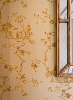 Georgian mirror in burnt gold on paper backed Cathay silk - Beaumont & Fletcher