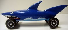 Shark derby car with painted waves from Devas T. Rants and Raves!