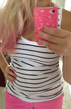 Pink Ombre: How to get pink tips that rinse out in 3 washes. Read my blog here :) Follow the Little Pink Road: Pink Hair!