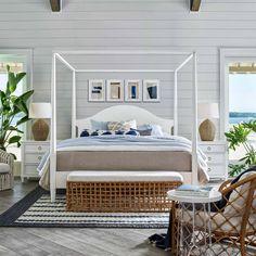 Coastal Bedrooms, Coastal Living, Beach Bedrooms, Florida Living, Coastal Decor, Hamptons Style Decor, Nantucket Style Homes, Redford House, Bed Furniture