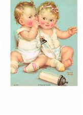 Item image Baby Clip Art, Baby Art, Vintage Cards, Vintage Postcards, Vintage Baby Pictures, Decoupage, Baby Girl Quotes, Baby Illustration, Baby Journal