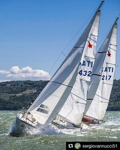 #Repost @sergiovannucci51  #trasimenolake #sailing #sailing #meteor #matchracing #clubvelicotrasimeno #championship #umbria #passignanosultrasimeno #sports #canon #canon70200mm #openair #engaging #italy #sailingboat #nature #naturelovers #waves