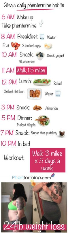 After losing her first 24 pounds with phentermine, Gina is more than happy to share with you the details of her daily routine! Find more helpful tips at:http://www.phentermine.com #weightloss #health #fit #fitness #healthy #recipe #breakfast #motivation #