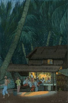 Art Print Reproduction Night Scene Malacca by