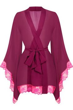 Agent Provocateur kimono #lingerie- I would wear over a Cami as a blouse or jacket or cardigan!!