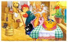"""Иллюстрация к сказке """"Колобок"""" от Д.Непомнящего и О.Попугаевой"""