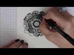 Zentangling tutorial - Splitcoast Stampers