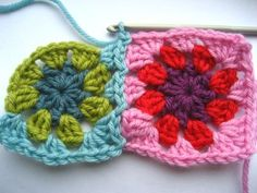 Join As You Go method for joining granny squares - very detailed directions with lots of pictures!