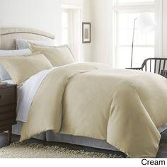 3-piece Duvet Cover Premium Double Brushed Bedding Pillow Sham Queen Full Cream…