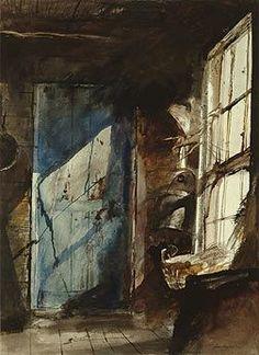 Blue Door / Andrew Wyeth / 1952 / watercolor on paper / Delaware Art Museum