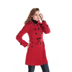 Fashion Women Wool Blends Winter Trench Coat Outerwear ** Quickly view this special  product, click the image : Plus size coats