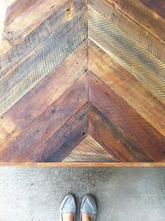 Reclaimed Barn wood Chevron herringbone COFFEE by triple7recycled, $380.00