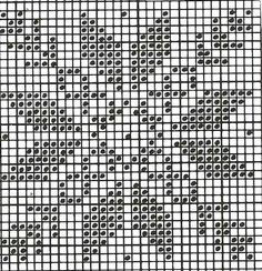 Cross stitch, but good for a filet crochet pattern too! Knitting Charts, Knitting Stitches, Knitting Patterns, Crochet Patterns, Chicken Scratch Patterns, Chicken Scratch Embroidery, Cross Stitching, Cross Stitch Embroidery, Cross Stitch Patterns