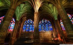 Interior Gothic Churches HD Wallpaper