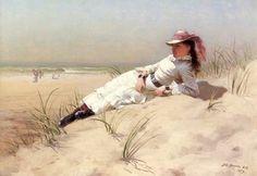 John George Brown  Sunshine  |  (, artwork, reproduction, copy, painting).