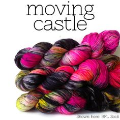 Stimpylab is a small business specializing in unique, hand dyed yarns and fibers. Dyeing Yarn, Sock Yarn, Hand Dyed Yarn, Studio Ghibli, Castle, Forts, Palace, Castles