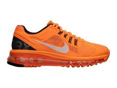 Nike Air Max 2013 Chaussures Nike Pas Cher Homme Orange/Argent/Noir 554886-800