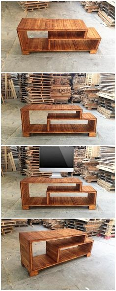 New wood pallet tv stand decor 38 Ideas Woodworking Projects Diy, Diy Pallet Projects, Wood Projects, Woodworking Plans, Pallet Ideas, Workbench Plans, Pallet Designs, Woodworking Joints, Woodworking Workshop