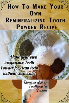 NaturalToothWhiteningIdeas: Remineralizing toothpaste recipe fight cavities naturally