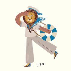 2019 Horoscope illustration for Marie Claire Magazine. Each month has it's lucky item, color and number. Leo Zodiac, Zodiac Signs, Leo Season, Leo Lion, Aesthetic Art, Art Inspo, Photo Art, Chibi, Behance