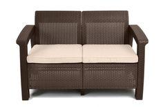 Keter Corfu Love Seat with Cushion & Reviews | Wayfair